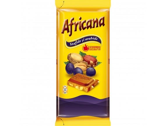 AFRICANA 100GR CIOCOLATA ARAHIDE SI STAFIDE