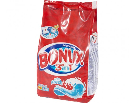 BONUX 900GR DETERGENT MANUAL ACTIVE FRESH