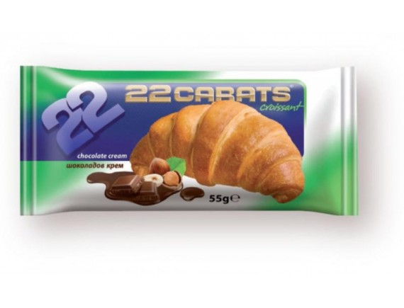 22 CARATE 55GR CROISSANT COCOA
