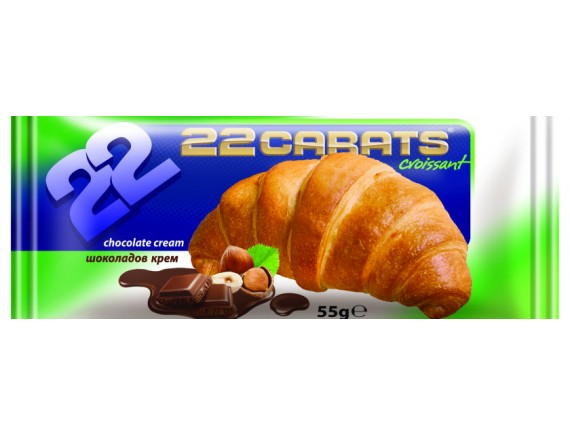 22 CARATE 55GR CROISSANT CHOCOLATE