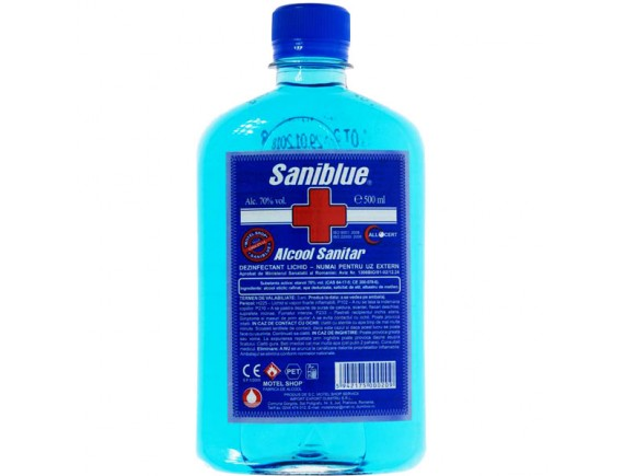 SANIBLUE 500ML ALCOOL SANITAR 70%