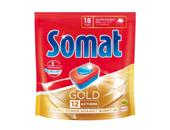 SOMAT 18BUC TABLETE DETERGENT MASINA DE SPALAT VASE GOLD